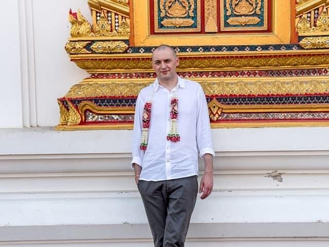 Nic & John 14th February 2018, Thai Monks Blessing 135