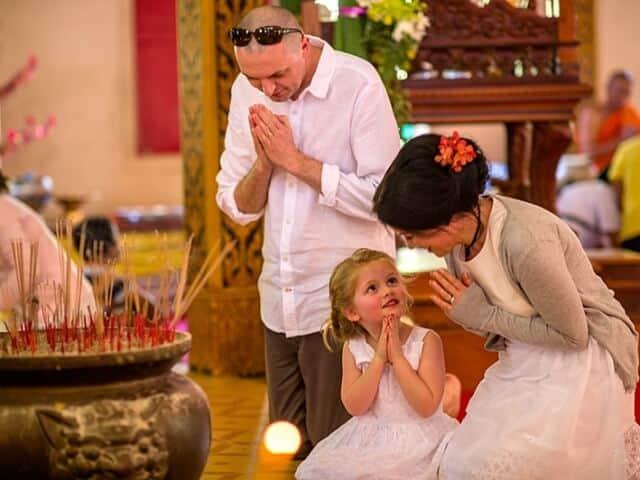 Nic & John 14th February 2018, Thai Monks Blessing 14