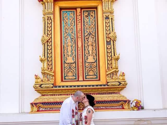 Nic & John 14th February 2018, Thai Monks Blessing 142