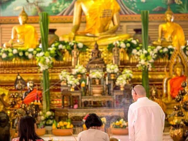 Nic & John 14th February 2018, Thai Monks Blessing 15