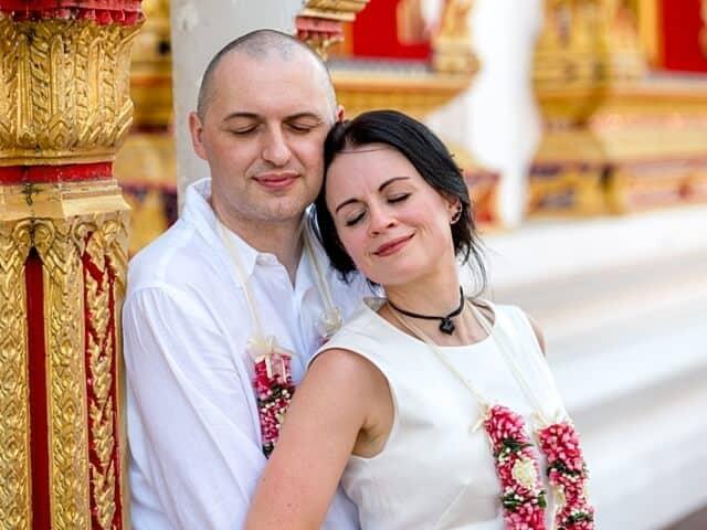 Nic & John 14th February 2018, Thai Monks Blessing 167