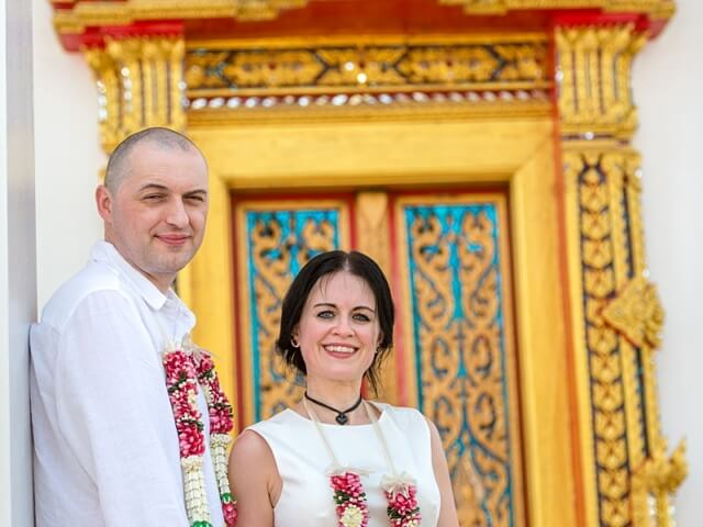 Nic & John 14th February 2018, Thai Monks Blessing 192