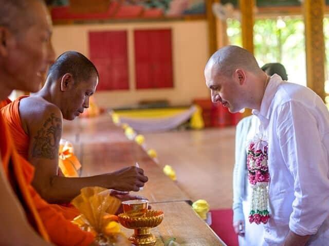 Nic & John 14th February 2018, Thai Monks Blessing 48