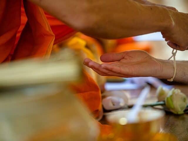 Nic & John 14th February 2018, Thai Monks Blessing 59