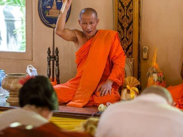 Nic & John 14th February 2018, Thai Monks Blessing 83