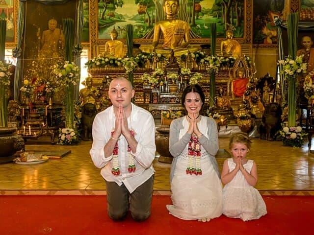 Nic & John 14th February 2018, Thai Monks Blessing 87